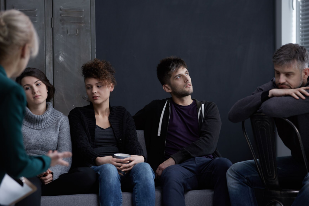 Group of people in therapy at Toronto drug rehab centre
