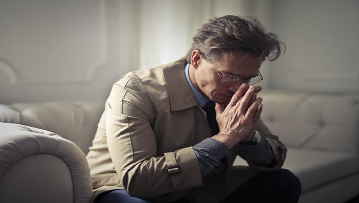 Man thinking about his problems