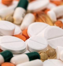 A mixture of prescription medication