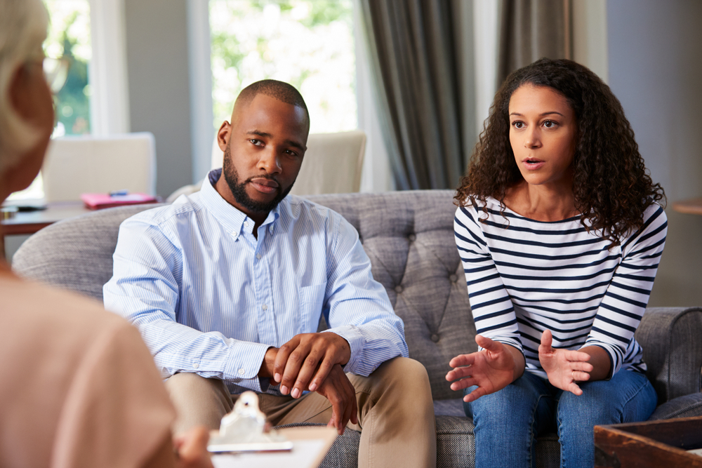 Young couple attending partner therapy