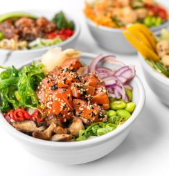Healthy poke bowls for addiction recovery diet